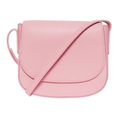 MANSUR GAVRIEL Mini Cross Body Bag ($626) ❤ liked on Polyvore featuring bags, handbags, shoulder bags, bolsas, bolsos, pink, crossbody shoulder bags, leather crossbody handbags, pink leather purse and crossbody handbags