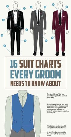 16 Suit Charts Every Groom Needs To Know About Before The Wedding