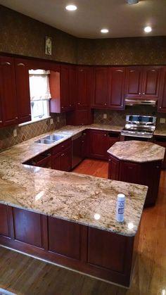 Merveilleux Typhoon Bordeaux Granite Kitchen Countertop By CSI