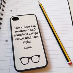 Oscar Wilde Quote iPhone Case-Literary Emporium - Gifts for Books Lovers #reading #books