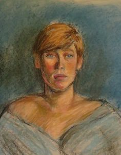 A young woman. Pastel by Tom Webber.