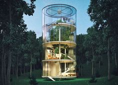 A. Masow Design Studio, tree house Kazakhstan, Kazakhstan architecture, glass houses, tree houses, tree houses design, transparent houses, forest retreats, daylit homes, Kazakhstan