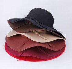49e291b3e8b59 Fashion Women Floppy Wide Brim Cloche Fedora Dress Hat Retro Goth Bowknot  Band-in Fedoras from Women s Clothing   Accessories on Aliexpress.com