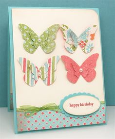 Birthday Butterflies by mamamostamps - Cards and Paper Crafts at Splitcoaststampers
