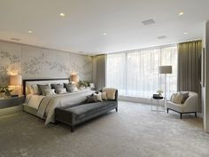The Master Bedroom Suite, Ashberg House, Chelsea, Designed by Morpheus London