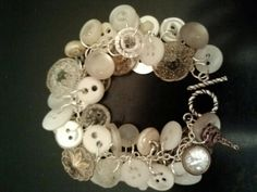 Vintage button jewelry by ChildhoodGems on Etsy, $25.00