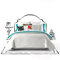 Give your bedroom a fresh new look with the stylish kate spade new york Deco Dot Duvet Cover Set. Decorated with Kate Spades' favorite dots in a scattered layout, the whimsical bedding is a fun and flirty addition to any room's décor.