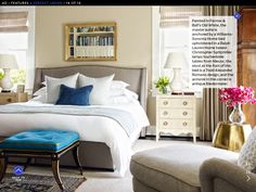 Bedroom from whole-house color scheme.