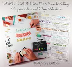New Catalog Goodie Packages: '14-'15 Catalog, Coupon Sheet and UBER Cute Page Marker Booklet!