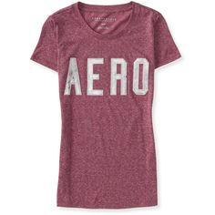 Iridescent Aero Graphic T ($8) ❤ liked on Polyvore featuring tops, t-shirts, plum blossom, slim tee, slim t shirt, aeropostale tees, distressed tee and distressed t shirt