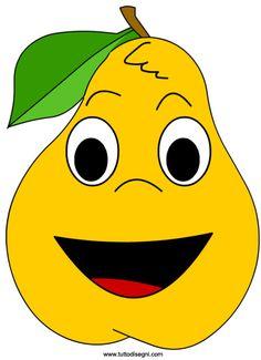 maschera-pera Kids Art Class, Art For Kids, Crafts For Kids, Funny Fruit, Cute Fruit, Vegetable Cartoon, Fruit Cartoon, Homemade Stickers, Kids Vector