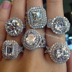 Diamond Rings Custom halo engagement rings Boca Raton - Halo engagement rings – yay or nay? If 2014 taught us anything, it's that halo engagement rings aren't going anywhere any time soon. This huge trend swept the world of bridal jewe… Engagement Rings 2014, Engagement Ring Settings, Solitaire Engagement, Halo Ring Settings, Engagement Hand, Double Halo Engagement Ring, Bling Bling, 4 Diamonds, Schmuck Design
