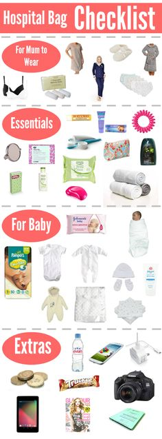 Packing my Hospital Bag | Checklist Half the list is for Surro's, the other half for Intended Parents.
