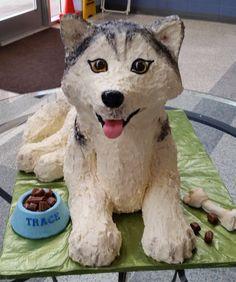 Husky cake for school's 10th birthday