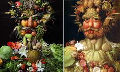 Pictures that look good enough to eat: Photographer recreates portraits by 16th Century painter with fruit and vegetables