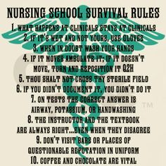 nursing school survival rules blue and black T-Shi by ADMIN_CP68868639