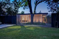 modern steel fence - Google Search