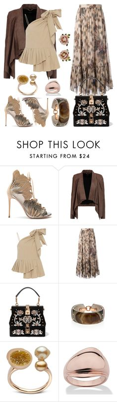 """""""Untitled #570"""" by detroitgurlxx ❤ liked on Polyvore featuring Casadei, MuuBaa, Sea, New York, Valentino, Dolce&Gabbana, Federica Rettore, Palm Beach Jewelry and Les Néréides"""