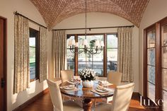 Brown and Tan Traditional Dining Room | LuxeSource | Luxe Magazine - The Luxury Home Redefined