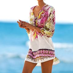 Pareos Robe de plage Swimsuit cover up Chiffon Print Snake Beach Cover up Bathing suit Cover ups Swimwear Cover up