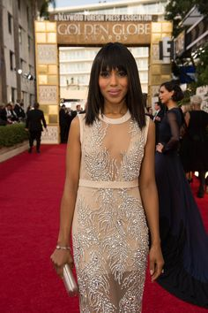 Actress Kerry Washington attends the 70th Annual Golden Globe Awards at the Beverly Hilton in Beverly Hills, CA on Sunday, January 13, 2013.