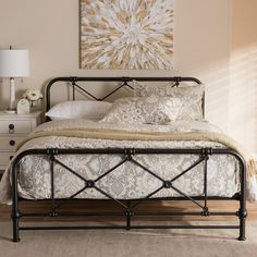 Inspired by classical Victorian style, the Beatrice is an updated piece of metal platform bed. With its soft gentle curved headboard and footboard, the Bea Platform Bed Mattress, Queen Size Platform Bed, Metal Platform Bed, Black Iron Beds, Comfort Mattress, Headboard And Footboard, Metal Headboards, Iron Headboard, Black Headboard