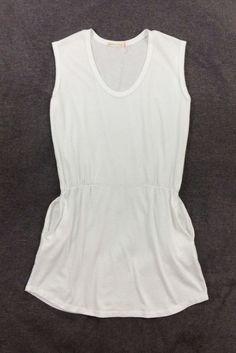 b047e0ec2f8e0 Alternative Womens Swimwear 100% Cotton Cover Up Mini Dress White Size  Small  Alternative