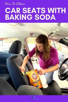 WIth this DIY carpet cleaning hack, you'll be able to clean your car seats with baking soda. This all natural remedy will have stains, dirt, and dust up out of your auto seats in not time #homeviable #carcleaning #bakingsoda #allnatural #DIY Clean Cloth Car Seats, Cleaning Leather Car Seats, Cleaning Car Upholstery, Car Cleaning, Cleaning Hacks, Vinegar Cleaning Solution, Cleaning Solutions, All Natural Cleaning Products, Best Cleaner