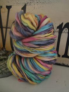 FRUIT SLICES handspun yarn