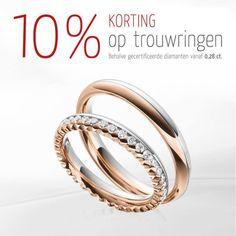 Nu: 10% korting op trouwringen (uitgez. gecert. diamanten vanaf 0,28ct)  #123gold #steinberg #trouwringen #korting #actie #diamanten #ringen #bruiloft #trouwen #huwelijk #jaikwil