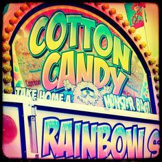 Cotton Candy Rainbows  Fine Art Carnival Print  8x8 by stoopidgerl, $25.00