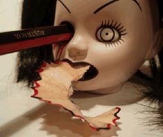 Doll head sharpener. My kind of desk top companion!