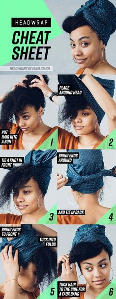 Shanice never really got into head wraps because she thought her hair was way too big to rock them. Ofc we were excited to prove her wrong with this retro style. 8 Head Wrap Cheat Sheets If You Don't Know How To Tie Them Natural Hair Tips, Natural Makeup, Natural Hair Styles, Bad Hair, Hair Day, Pelo Afro, African Head Wraps, Scarf Hairstyles, Hairstyles Videos