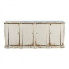 The Rustic White Farmhouse Buffet is beautifully finished in distressed white that reveals plenty of wood beneath. It's perfect for your farmhouse or shabby chic style dining room or kitchen. Shabby Chic Theme, Shabby Chic Dining, Shabby Chic Kitchen, Shabby Chic Style, Shabby Chic Furniture, Home Furniture, Country Furniture, Furniture Ideas, Farmhouse Buffet
