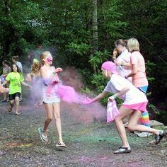 Camp color run, via www.rockbrookcamp.com