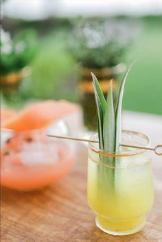 Gold Rim Aperitif Glass by Set Maui wedding cocktail inspiration PC: Brandon Kidd Planner: LVL Events Venue: Montage Kapalua Bay Maui Weddings, Hawaii Wedding, Cocktail Garnish, Luau Theme, Craft Cocktails, Moscow Mule Mugs, Cantaloupe, Catering, Pineapple
