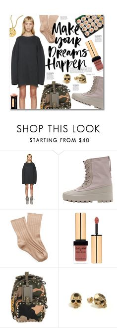 """""""MAKE YOUR DREAMS HAPPEN"""" by miee0105 ❤ liked on Polyvore featuring adidas Originals, Rochas, Valentino, Kasun, Trina Turk and Yeezy"""