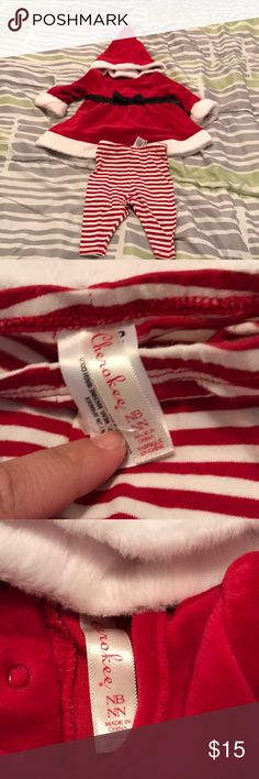 ********Baby Girl's First Christmas Dress********* Brand New! Only washed and the pants still have part of the tag on them. Includes little dress, leggings, and Santa hat! Al offers welcomed! Cherokee Matching Sets