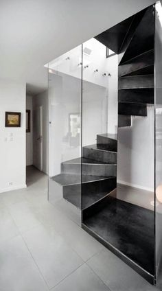 Box Plexiglas - Atelier MaDe Spiral Staircase For Sale, Spiral Staircase Dimensions, Escalier Design, Stair Railing, Railings, Staircase Design, Staircase Ideas, Under Stairs, Home Decor Furniture