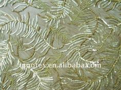 3mm shiny embroidered and dull sequins fabric