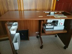 Thanks the customer show Luxhome sewing cabinet BA-3 in her house after getting our sewing machine cabinets. The photo show how to storage sewing machine andy@luxhome.cc