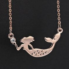 Mermaid Necklace ($39) ❤ liked on Polyvore featuring jewelry, necklaces, charm jewelry, polish jewelry, shiny charm and charm necklace