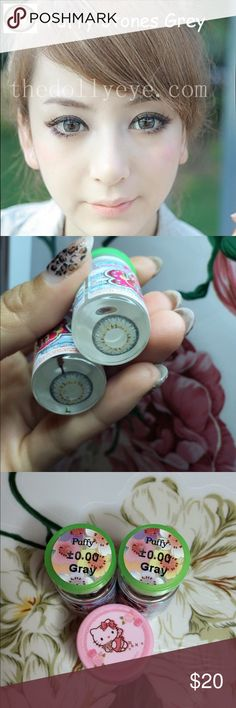 Contact lens puffy 3 Ton Gray 0.00 100% New  brand Pretty doll Color : Gray  eyes contact  1  pair / 30 Day after open  Free contact case Made in Korea  Expiration date is 2021.02.20 Makeup Eyeliner
