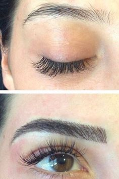 These Amazing Microblading Results May Persuade You to Get Your Brows Tattooed - Eye Makeup tips Best Eyebrow Makeup, Best Eyebrow Products, Eye Makeup, Hair Makeup, Eyebrows Goals, Eyebrows On Fleek, Tattooed Eyebrows, Fake Eyebrows, Eye Brows