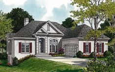 Elevation of Traditional   House Plan 96960