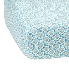 Celadon Scale Crib Sheet | Serena & Lily