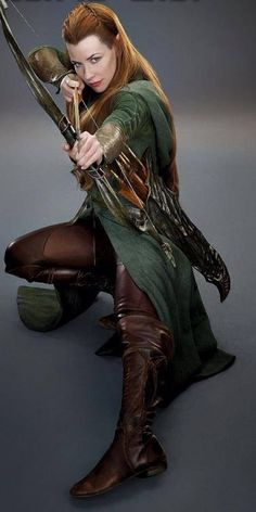"""Tauriel, an elf played by Evangeline Lilly in """"The Hobbit: The Desolation of Smaug"""""""