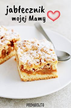 Polish Recipes, Polish Food, Apple Cake Recipes, Food Cakes, Christmas Desserts, No Bake Cake, Biscotti, Eat Cake, Pancakes