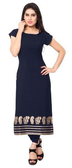 LadyIndia.com # Cotton Kurti, Attractive Stylish Floral Blue Kurti For Women, Kurtis, Kurtas, Cotton Kurti, Anarkali, A-Line Kurti Designer Kurti, https://ladyindia.com/collections/ethnic-wear/products/attractive-stylish-floral-blue-kurti-for-women?variant=30039300301