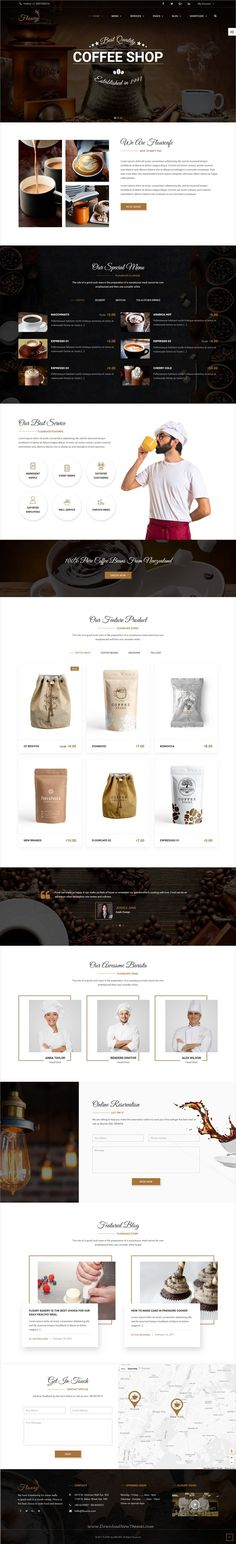 Floury Restaurant is a wonderful 8in1 responsive #WordPress theme for #coffeeshop bakery, food, #beverage, cuisine, restaurant and cafe websites download now➩ https://themeforest.net/item/floury-food-restaurant-wordpress-theme/19357832?ref=Datasata